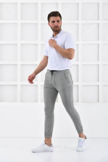 Bej Erkek Süper Skiny Bel ve Paça Lastikli Jogger Pantolon F321574