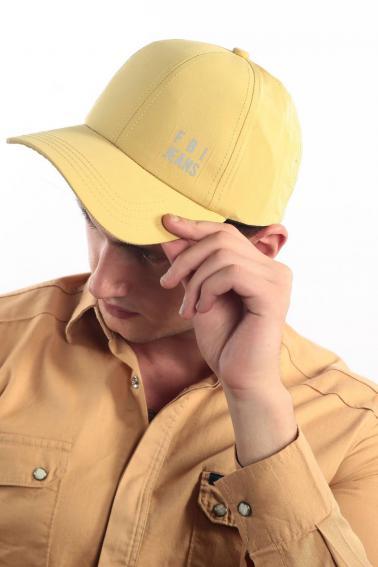 Erkek Hardal FBI Reflektör Baskılı Şapka Ş8313