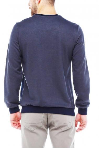 Erkek Füme Bisiklet Yaka Jakarlı Selanik Sweatshirt 95050