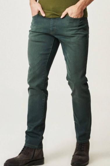 Erkek Y.Lacivert Jean Slim Fit Dar Kesim Likralı Kot Pantolon BJP7465