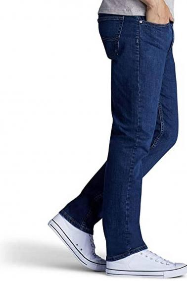 Erkek Mavi Battal Boy Jeans Modern Kesim Fermuarlı Kot Pantolon BL7465-523