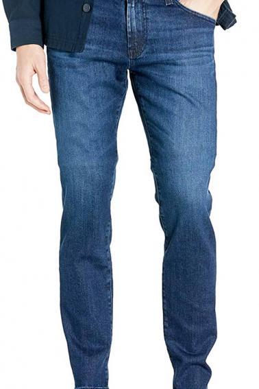 Erkek Lacivert Battal Boy Jeans Modern Kesim Fermuarlı Kot Pantolon BL7465-522