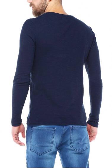 Erkek Laci Slim Fit  Bisiklet Yaka Penye Uzun Kol T-Shirt