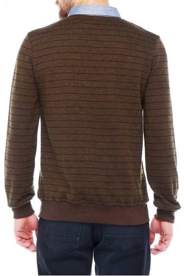 Erkek Badem Polo Yaka Selanik Sweatshirt Yaka Gabardin detaylı 95043