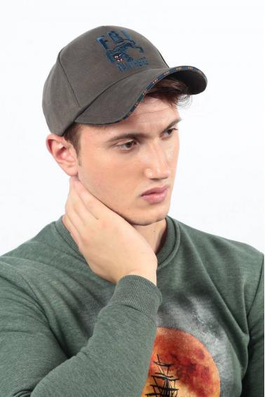 Erkek Vizon FBI Nakışlı Şapka Ş8317