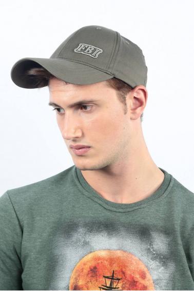 Erkek Haki FBI Nakışlı Şapka Ş8314
