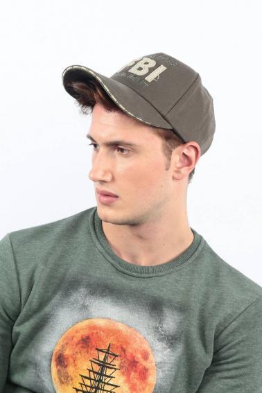 Erkek Haki FBI Nakışlı Şapka Ş8315