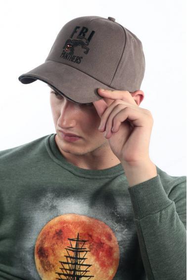 Erkek Haki FBI Nakışlı Şapka Ş8317