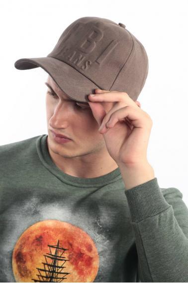 Erkek Haki FBI Kabartma Baskılı Şapka Ş8316