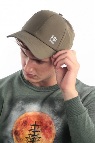 Erkek Haki FBI Reflektör Baskılı Şapka Ş8313