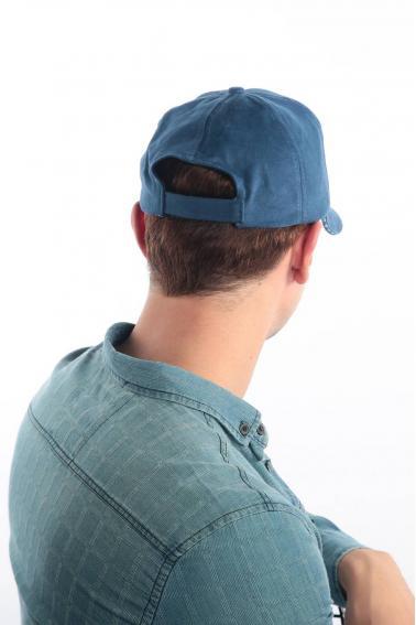 Erkek İndigo FBI Nakışlı Şapka Ş8315