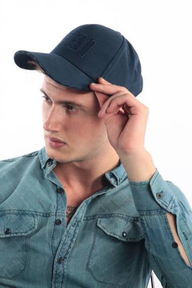 Erkek Lacivert FBI Nakışlı Şapka Ş8305