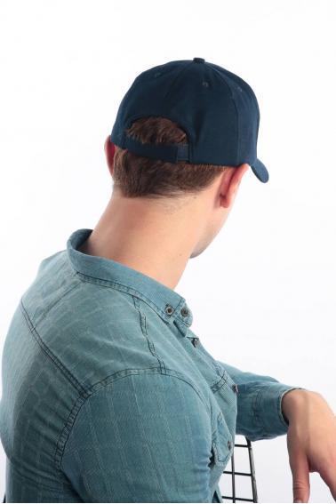 Erkek Lacivert FBI Kabartma Baskılı Şapka Ş8316