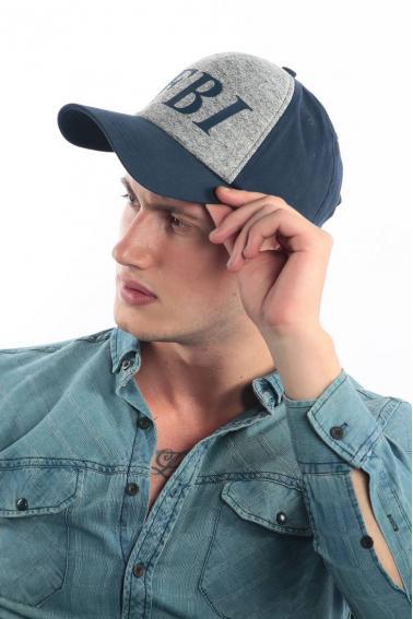 Erkek Lacivert FBI Baskılı Şapka Ş8306