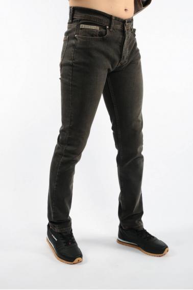 Erkek Antrasit Inter Jean Slim Fit Rahat Kesim Yıkamalı Kot Pantolon F5093