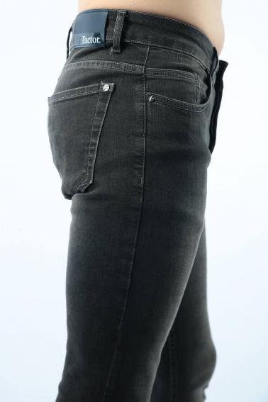 Erkek Antrasit Brasilla Jean Slim Fit Dar Kesim Yıkamalı Kot Pantolon F81001