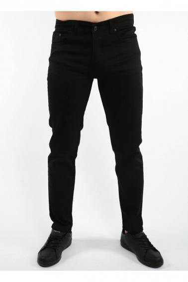 Siyah Erkek Jean Slim Fit Dar Kesim Likralı Kot Pantolon F803
