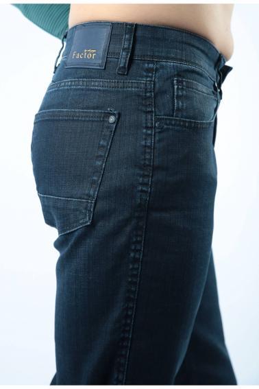 Erkek Lacivert Battal Boya Kadar Jeans Modern Kesim Fermuarlı Kot Pantolon F103