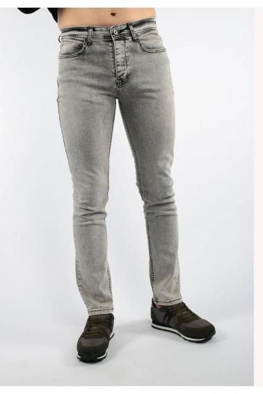 Gri Erkek Jean Slim Fit Dar Kesim Likralı Kot Pantolon F5084